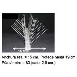Pinchos Palomas Acero Protecc 19 cm.    Precio por metro