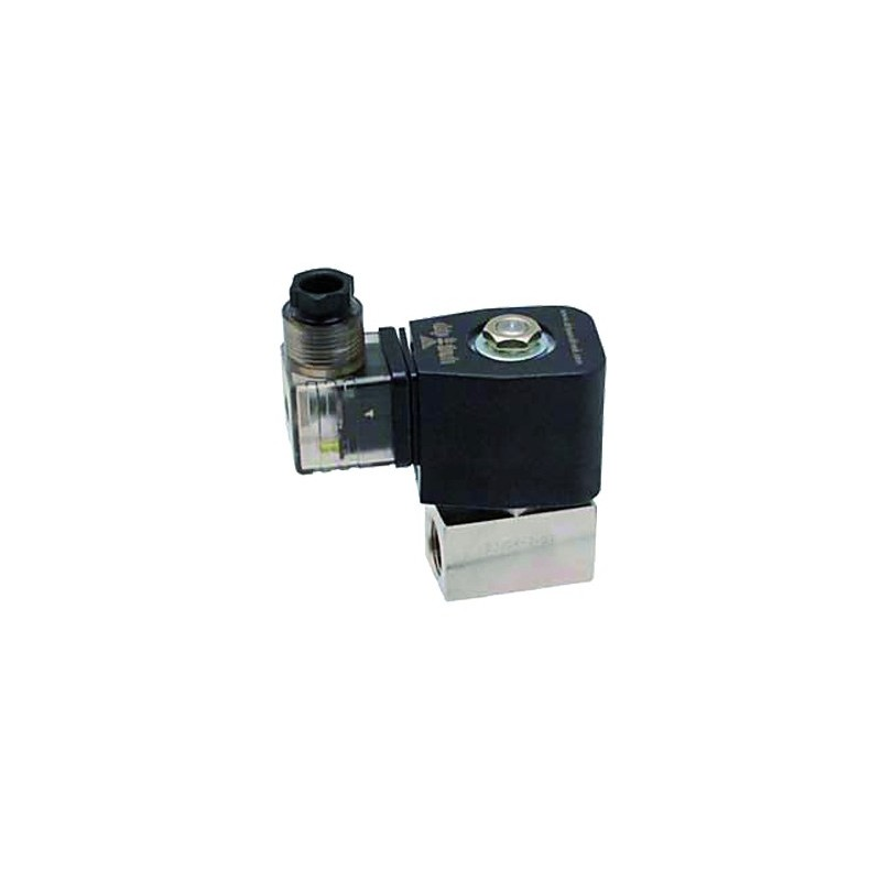 """Electroválvula 3/8"""" 220v N/C, 100 BAR (Alta presión)"""