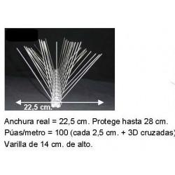 Pinchos Palomas Acero Protecc 28 cm.    Precio por metro
