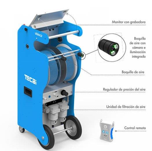 maquina para limpieza de conductos profesional