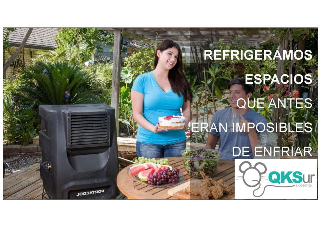 refrigeración espacios exteriores