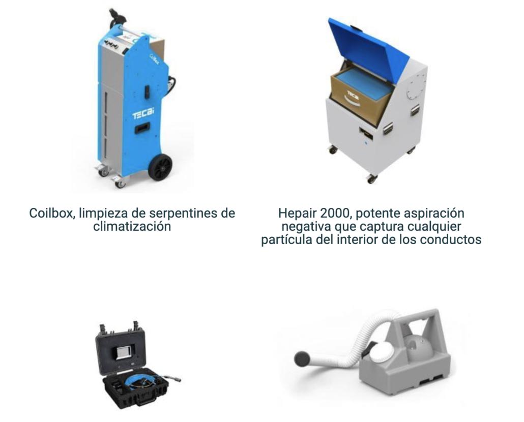 Maquinaria para limpieza de conductos de ventilación